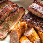 BBQ brisket, sausage and ribs