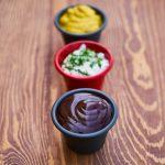 little bowls of sauce